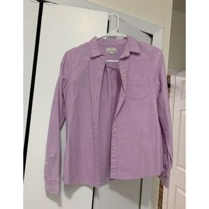 Madewell Lavendar Button Down Shirt